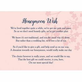 Wedding Gift Wish Poem Cards