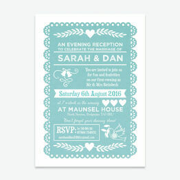 Papel Picado Evening Reception Invitation