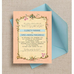 Pastel Pretty Wedding Invitation