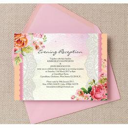 Pastel Watercolour Evening Reception Invitation