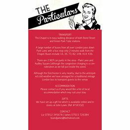 Retro Cherry Rockabilly Guest Information Card