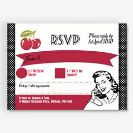 Retro Cherry Rockabilly RSVP