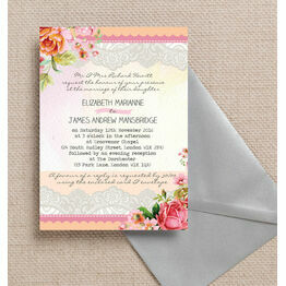 Pastel Watercolour Wedding Invitation