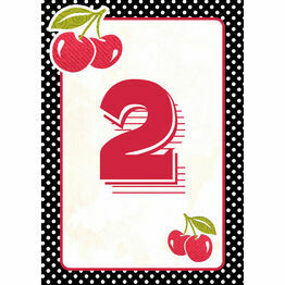 Retro Cherry Rockabilly Table Number