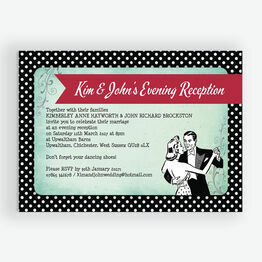 Rockabilly Retro Evening Reception Invitation