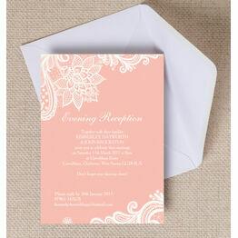 Romantic Lace Evening Reception Invitation