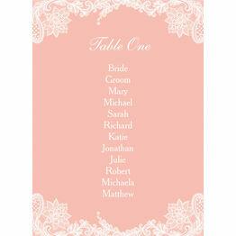 Romantic Lace Table Plan Card
