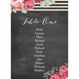 Rustic Floral Table Plan Card