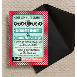 Rockabilly Retro Wedding Invitation
