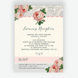 Sweet Vintage Evening Reception Invitation