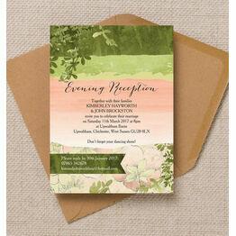 Wild Garden Evening Reception Invitation