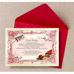 Winter Wonderland Evening Reception Invitation