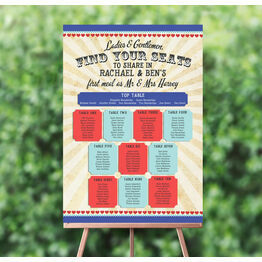 Circus Extravaganza Wedding Seating Plan
