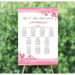 Cherry Blossom Wedding Seating Plan