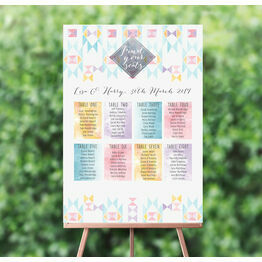 Pastel Geometric Wedding Seating Plan
