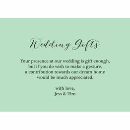 Rustic Wedding Gift Wish Card