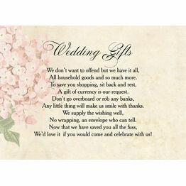 Vintage Flower Gift Wish Card