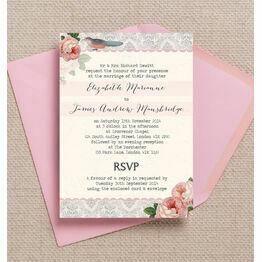 Sweet Vintage Wedding Invitation