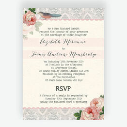 Sweet Vintage Wedding Invitation