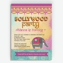 Bollywood Children's Party Invitation