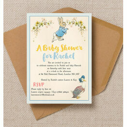Peter Rabbit & Jemima Puddle Duck Baby Shower Invitation