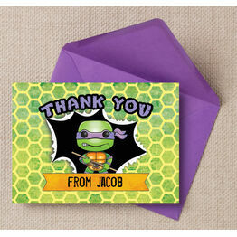 Turtle Superhero Thank You Card