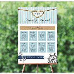 Nautical Knot Wedding Seating Plan