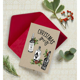 christmas spirits non personalised christmas cards pack of 10 - Non Photo Christmas Cards