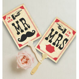 Printable 'I'm her Mr, I'm his Mrs' Signs