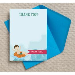 Swimming Themed Thank You Cards