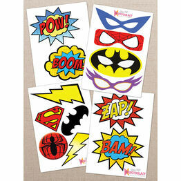 Printable Superhero Photo Booth Props