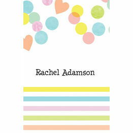 Candy Confetti Place Cards - Set of 9