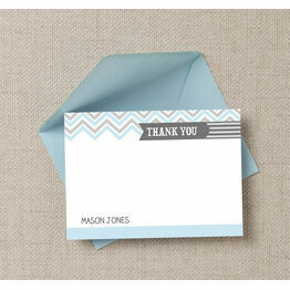 Chevron Thank You Cards