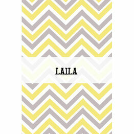 Chevron Name Cards - Set of 9