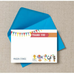 Circus Fun Thank You Cards
