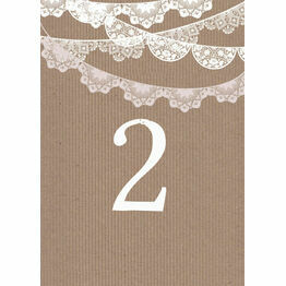 Rustic Lace Bunting Table Number