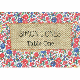 Country Textiles Escort Cards - Set of 8