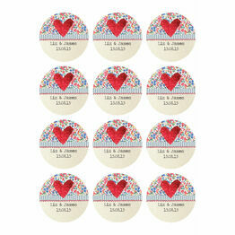 Country Textiles Stickers - Sheet of 12