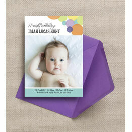 Dotty Delight Birth Announcement Card