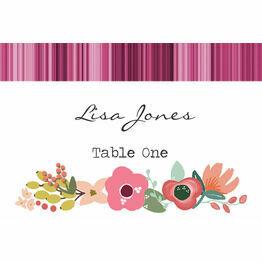 Elegant Floral Escort Cards - Set of 8