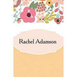 Elegant Floral Place Cards - Set of 9