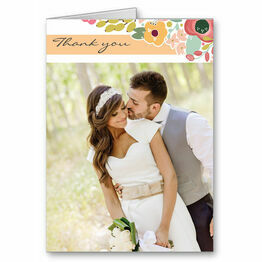 Elegant Floral Thank You Card