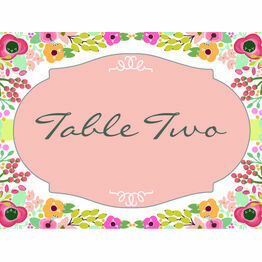 Elegant Floral Table Name