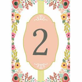 Elegant Floral Table Number