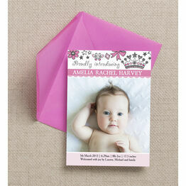 Fairy Princess Birth Announcement Card