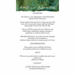 Flora Wreath Guest Information Card