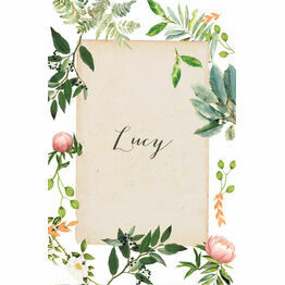 Flora Wreath Place Cards - Set of 9