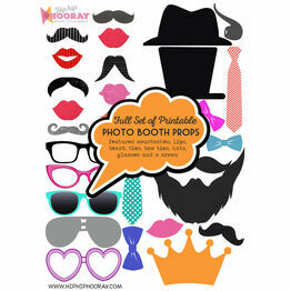Full Set of Printable Photo Booth Props