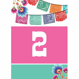 Mexican Fiesta Table Number