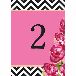 Monochrome Pop Table Number